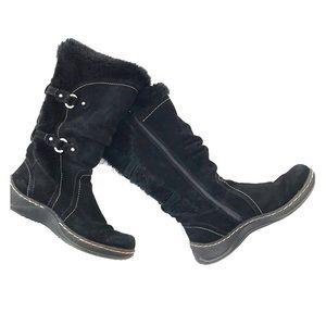 Black snow boots - 7M